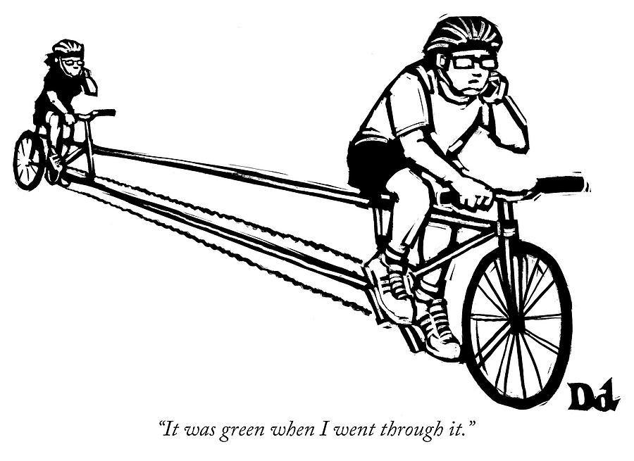 It was green when I went through it Drawing by Drew Dernavich