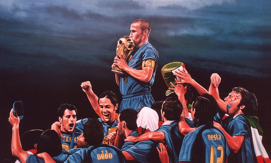 Italia Painting - Italia The Blues by Paul Meijering