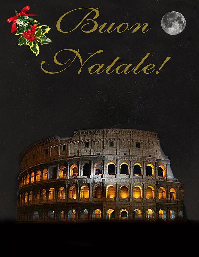 Italian Christmas Card Rome Mixed Media by Eric Kempson