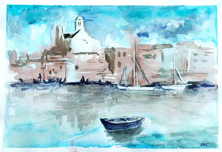 Italy Painting - Italian Coast  by Alexandra-Emily Kokova