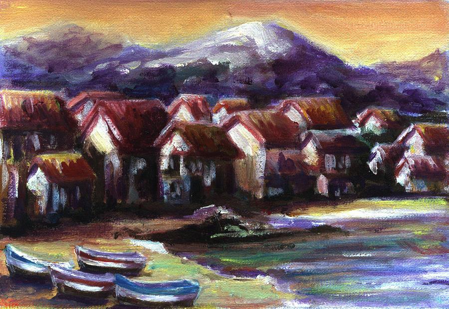 Oil Painting - Italian Coast by Patricia Halstead