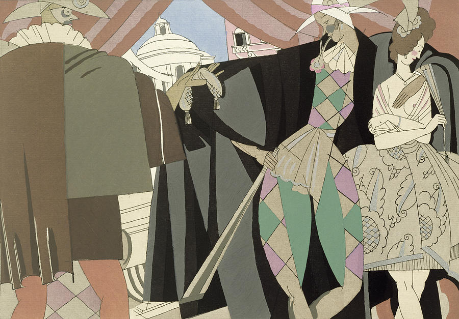 Art Deco Painting - Italian Comedy by Charles Martin