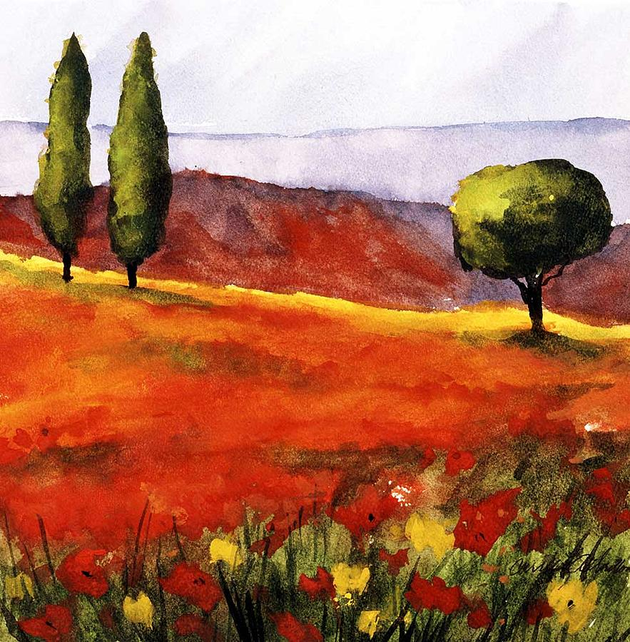 Painting Painting - Italian Fields by Carrie Allbritton