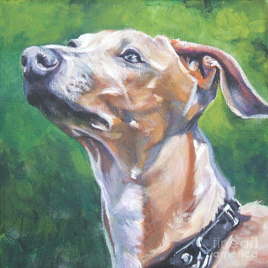 Italian Greyhound Painting - Italian Greyhound by Lee Ann Shepard