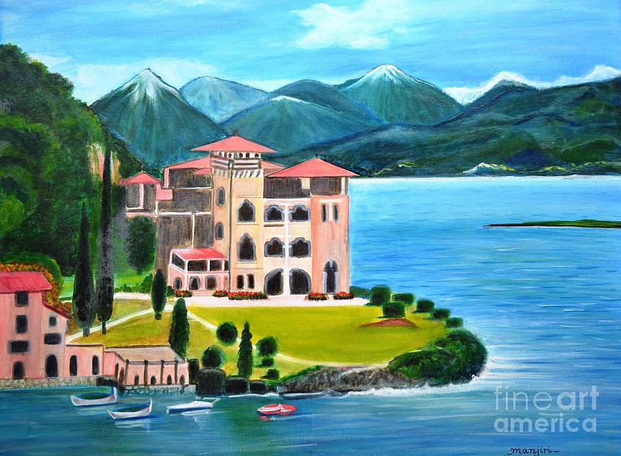 Italian Landscape Casino Royale Painting By Manjiri Kanvinde