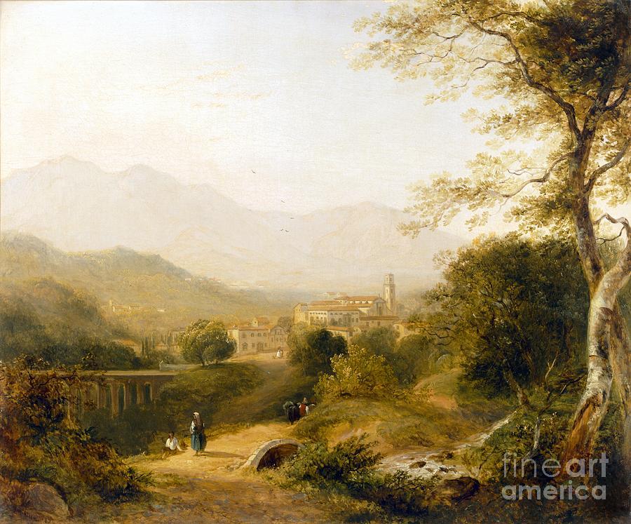 Italian Landscape Painting - Italian Landscape by Joseph William Allen