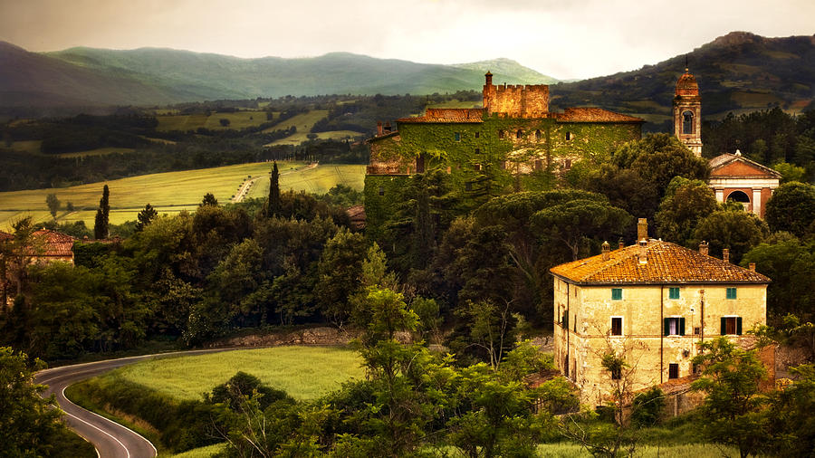 Italian Castle And Landscape Photograph By Marilyn Hunt