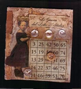 Italian Loterria Mixed Media by Cheryl Strait