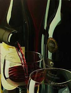 Italian Red Painting by Denis Eutikhiev