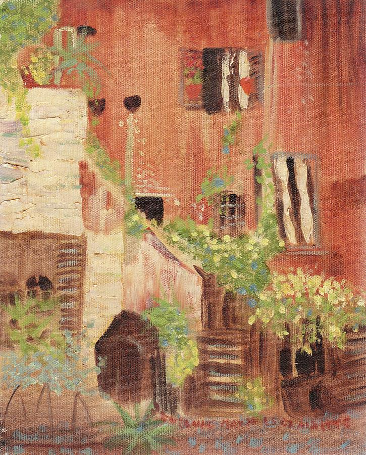 Home Painting - Italian Scene by Suzanne  Marie Leclair