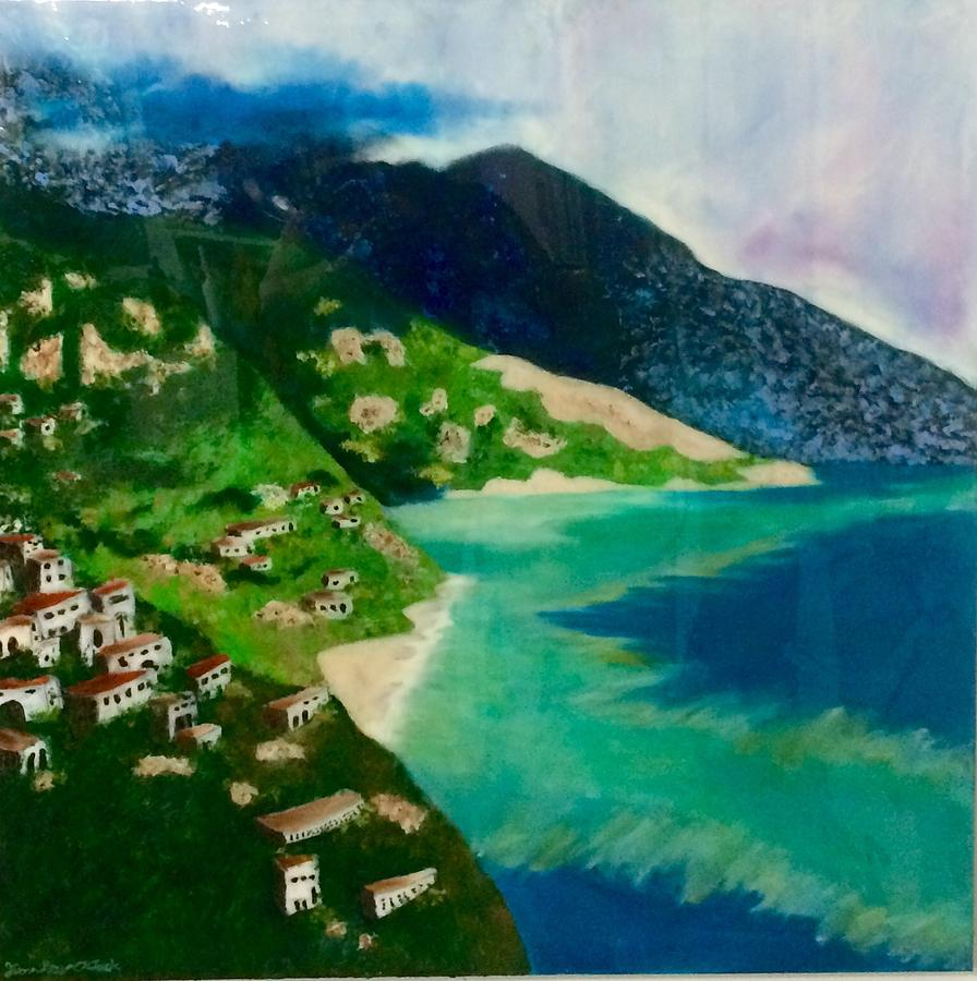 Landscape Painting - Italian Seaside  by Jason Rosenstock