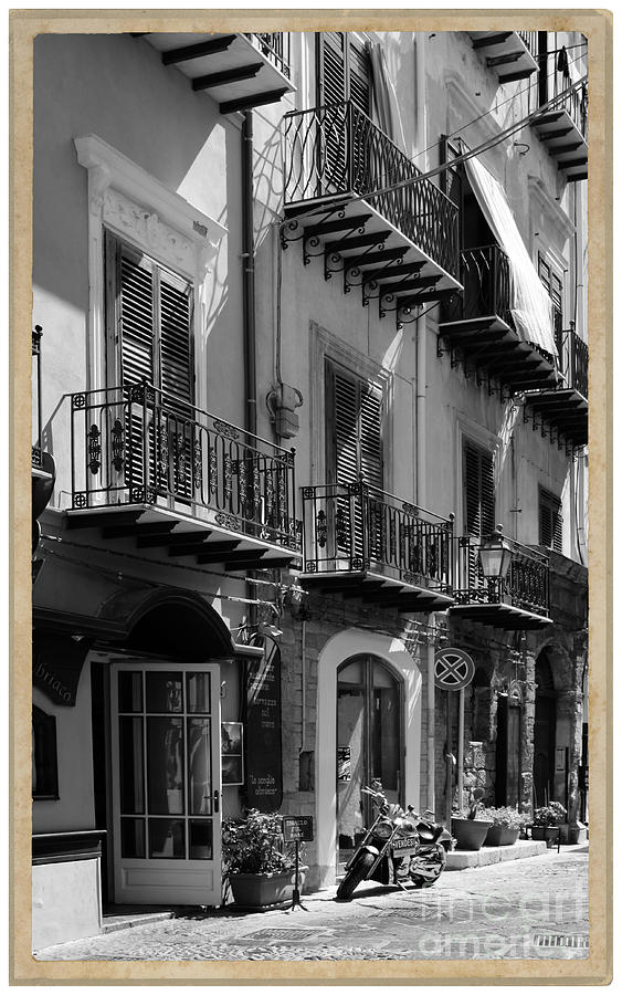 Black And White Photograph - Italian Street In Black And White by Stefano Senise