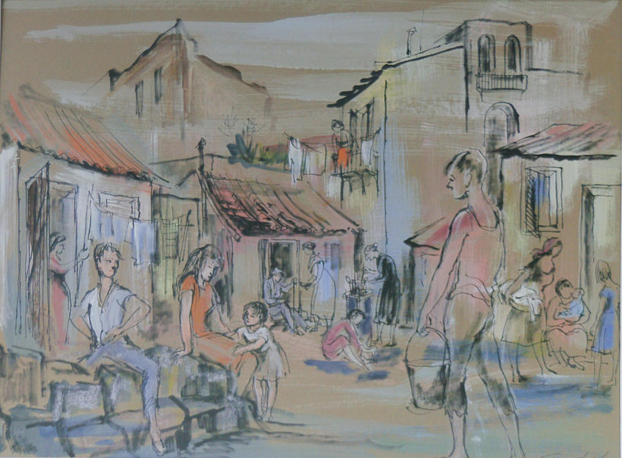 Cortile Cascino, Dusk Painting