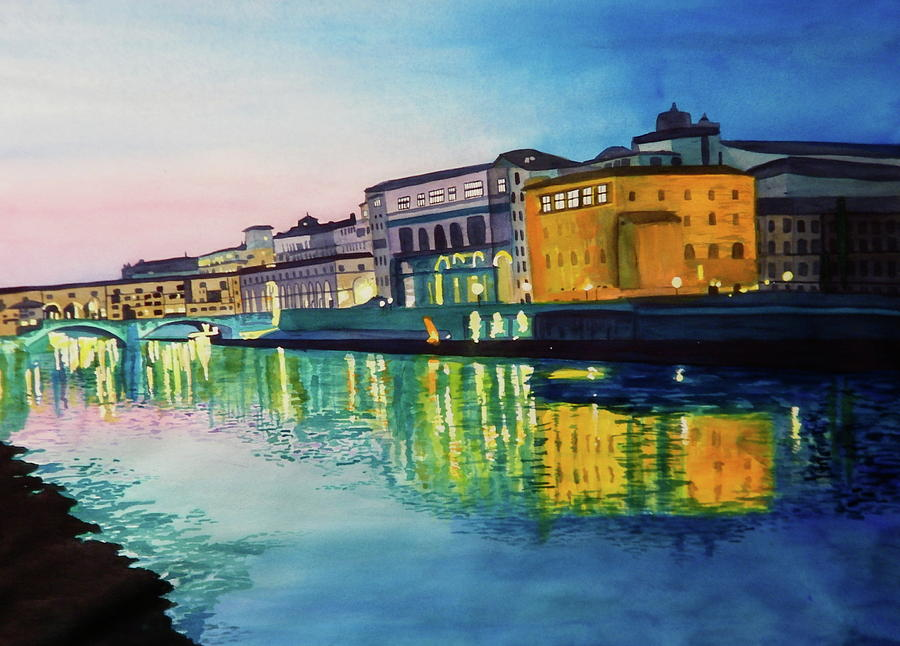 Italy Painting - Italian Sunset by Terry Honstead