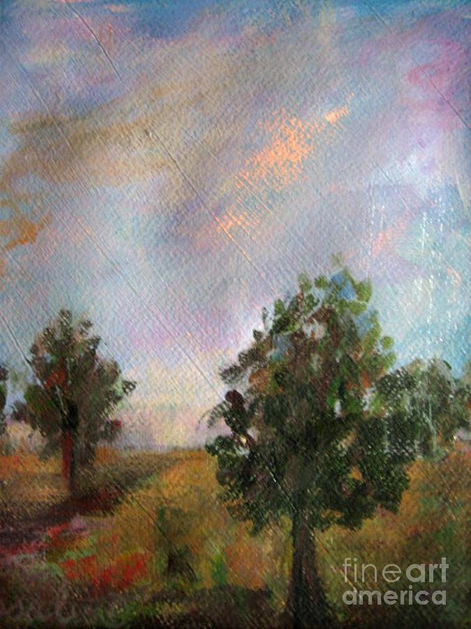 Italian Trees Painting by Rosalia  Tignini Verdun