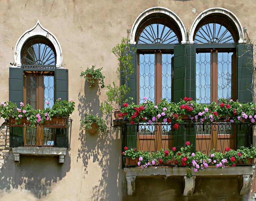 Windows Photograph - Italian Windows by Julie Geiss