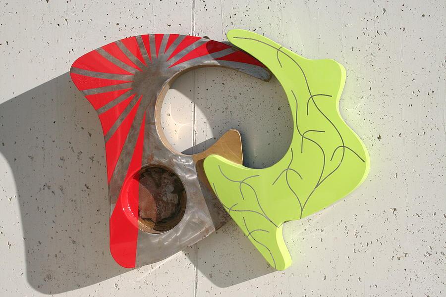Metal Sculpture - Italianredgreen by Oreste Minini