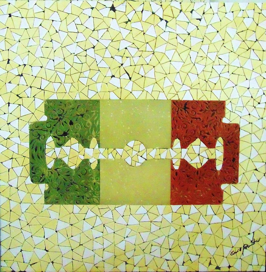 Popart Painting - Italy by Emil Bodourov