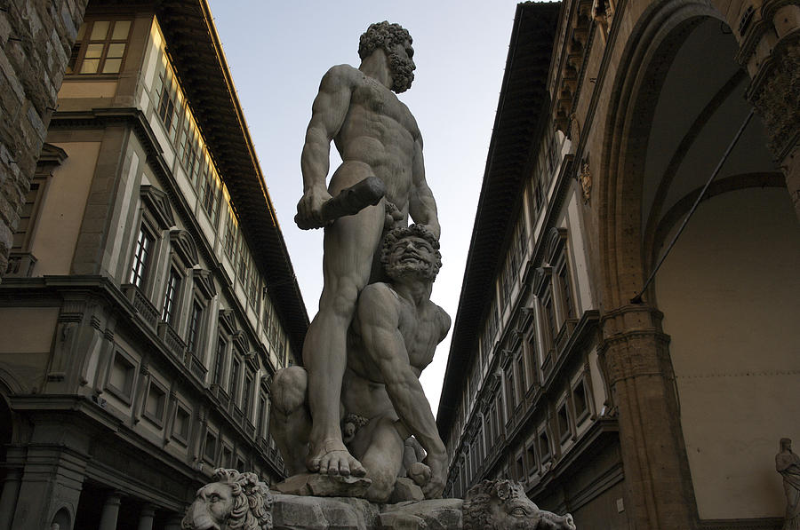 Color Image Photograph - Italy, Florence, Sculpture Of Gercules by Sisse Brimberg & Cotton Coulson