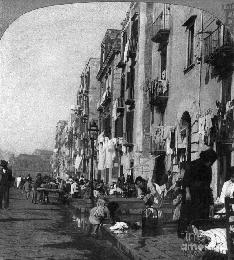1904 Photograph - Italy: Naples, C1904 by Granger
