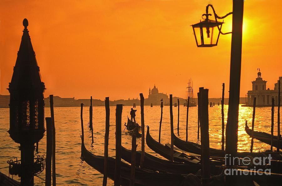 Boot Photograph - Italy Venice Riva degli Schiavoni , Canale Grande Riva degli Sch by Juergen Held