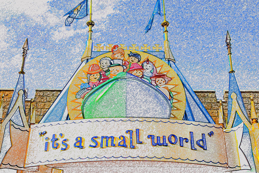 It's A Small World Ride Painting - Its A Small World Entrance Original Work by David Lee Thompson
