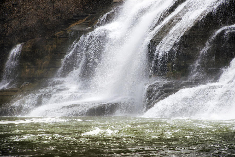 Ithaca Photograph - Ithaca Falls On Fall Creek - Mountain Showers by Christina Rollo
