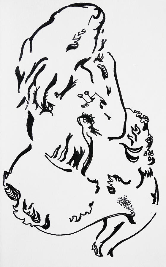 Pen Painting - Its A Doggie by Joseph Demaree