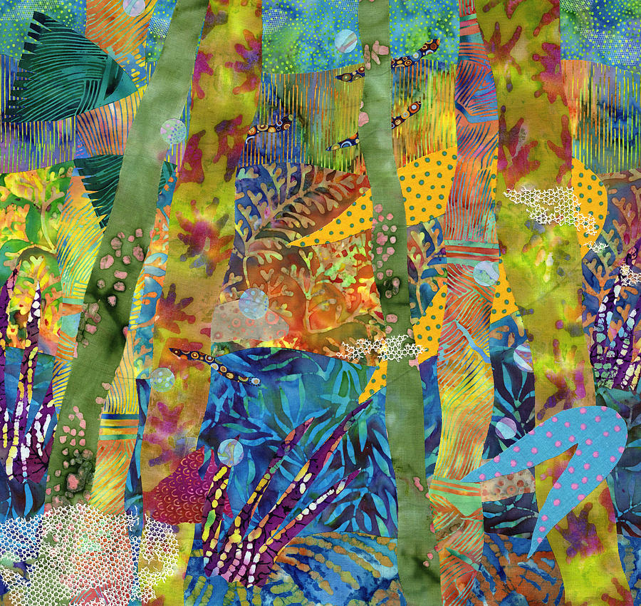Ocean Mixed Media - Its A Jungle Down There by Julia Berkley
