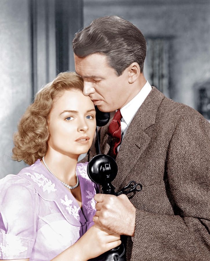 1940s Movies Photograph - Its A Wonderful Life, From Left Donna by Everett