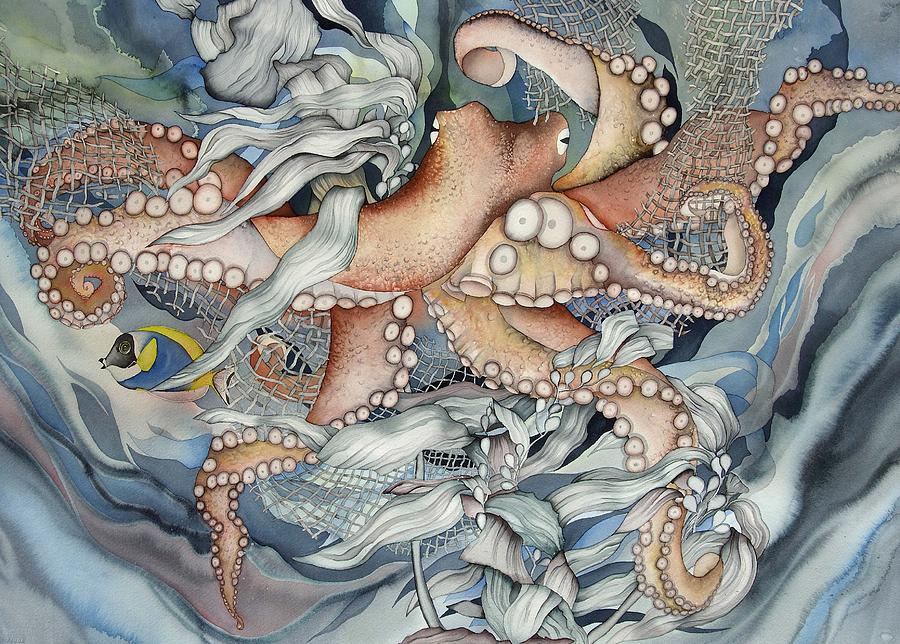 Sealife Painting - Its A Wonderful Wonderful World by Liduine Bekman