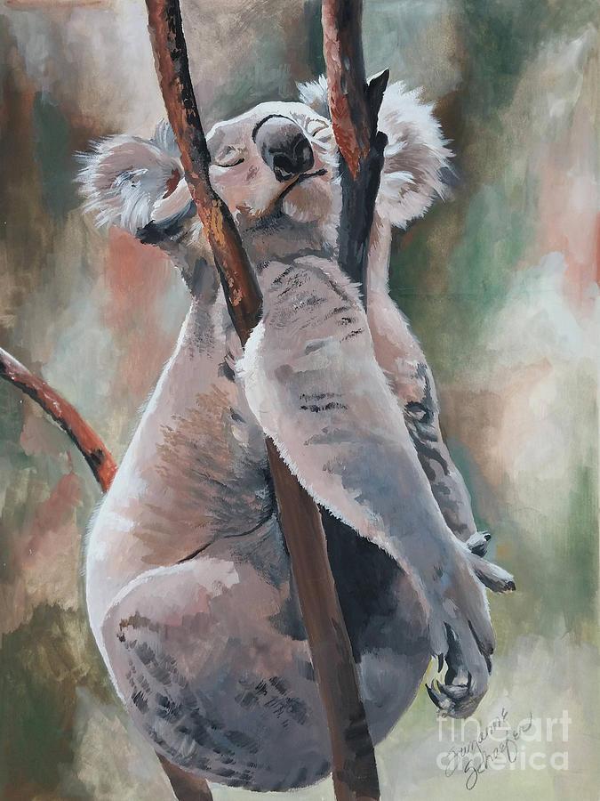 Koala Bear Painting - Its About Trust - Koala Bear by Suzanne Schaefer