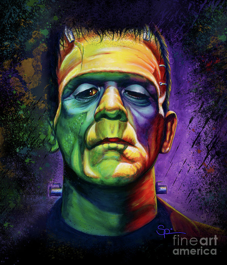Frankenstein Painting - Its Alive  by Scott Spillman
