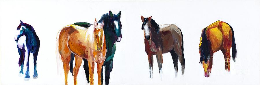 Horses Painting - Its All About The Horses by Frances Marino