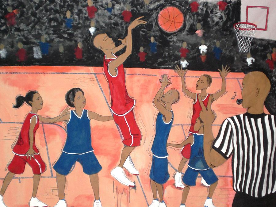 Basketball Painting - Its All Goode by Lynn Darnelle