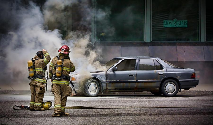 Firemen Photograph - Its Bbq Season by Michel Filion