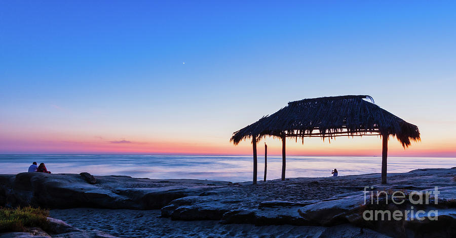 It's Blue Hour at the WindanSea Surf Shack by David Levin