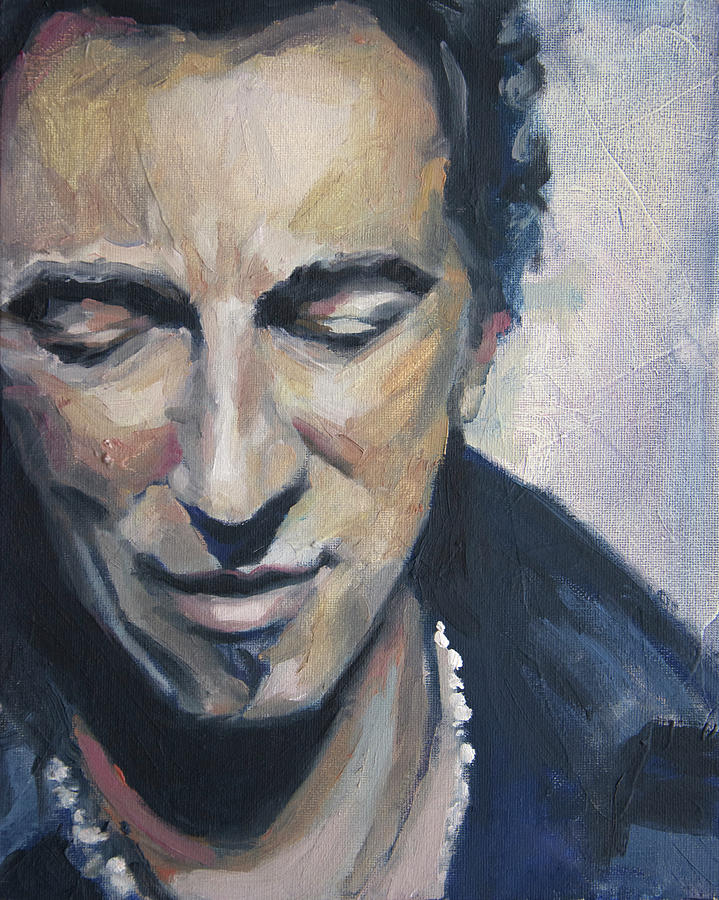Bruce Painting - Its Boss Time II - Bruce Springsteen Portrait by Khairzul MG