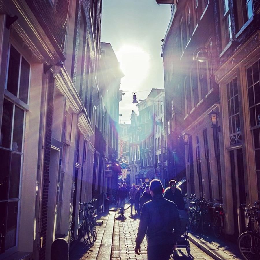 Europe Photograph - Its Bright Out On The Street by Aleck Cartwright