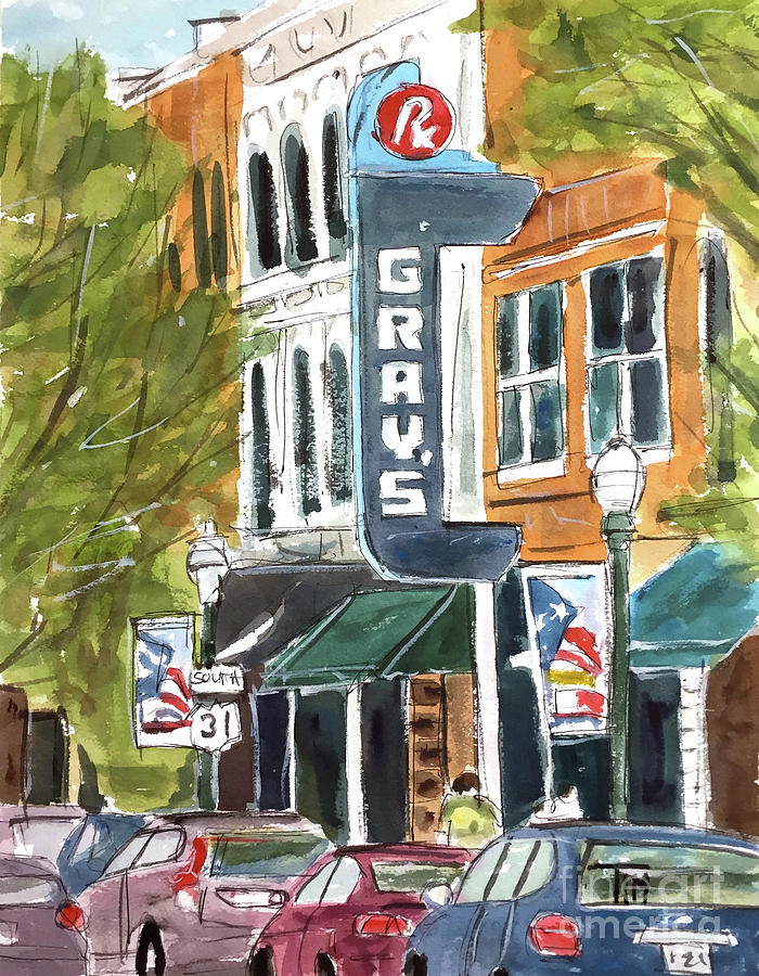 Franklin Painting - Its Friday In Franklin by Tim Ross