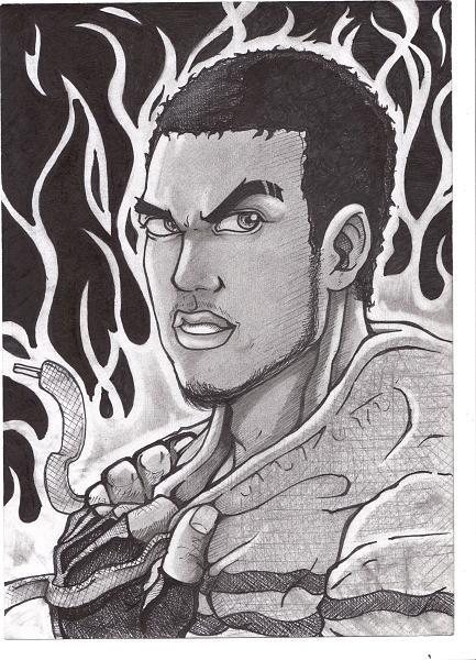 Original Drawing - Its Hot by Terrelle Jordan