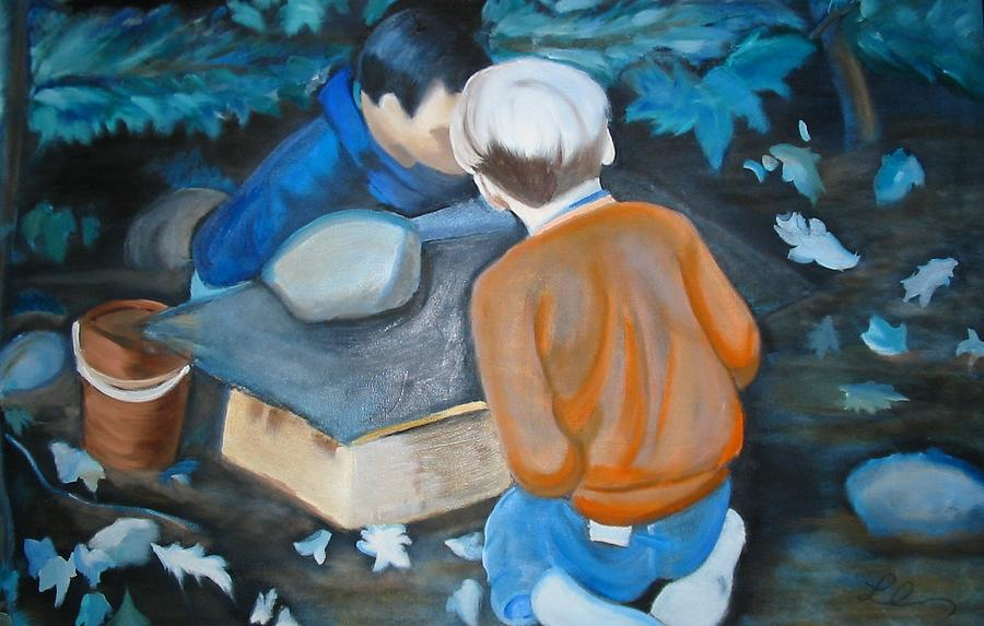 Vacation Painting - Its In The Box by Lottiemae Littlefield