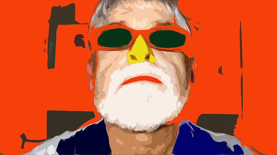 Self-portrait Digital Art - Its Just A Nose by Charlie Spear