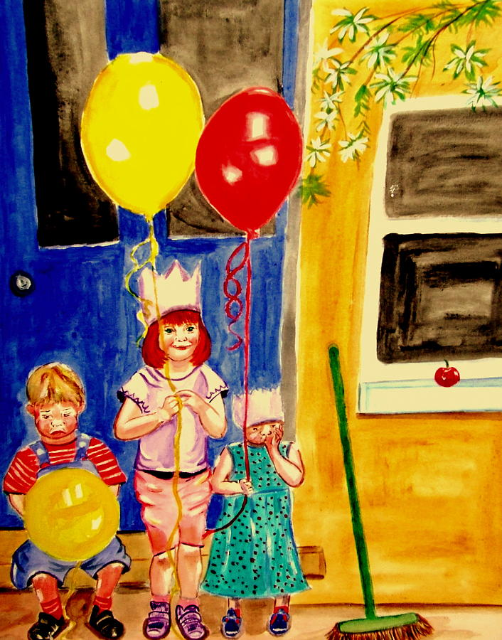 Childhood Painting - Its My Party by Rusty Gladdish