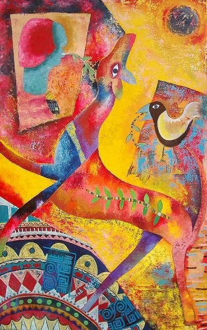 Its Natural To Think Painting by Jacob  Wachira Ezigbo