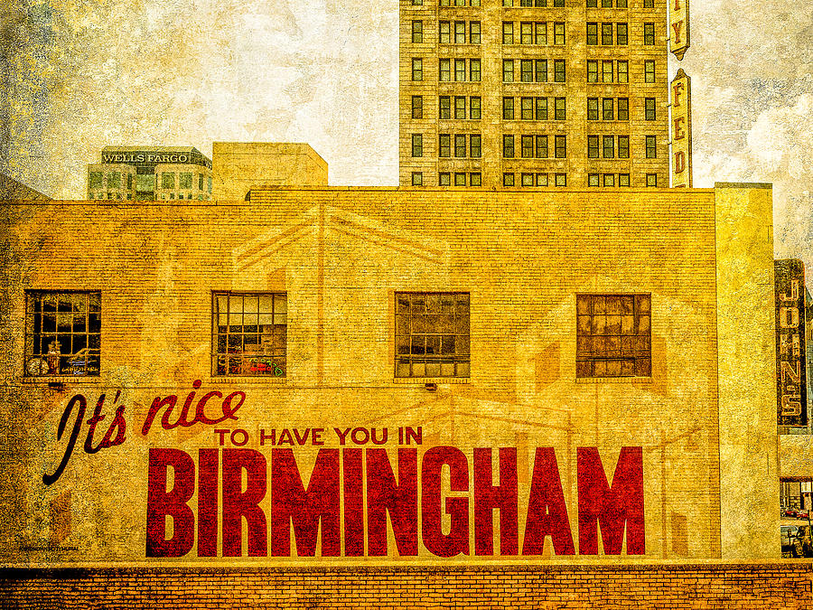 Birmingham Photograph - Its Nice To Have You In  To Birmingham by Phillip Burrow