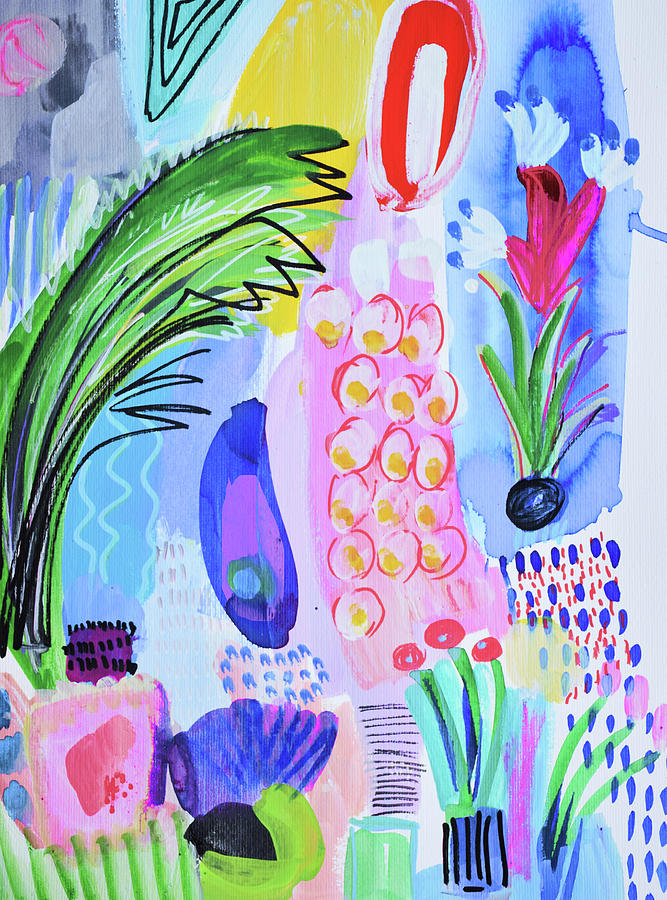 Painting Painting - Its Raining Flowers by Amara Dacer