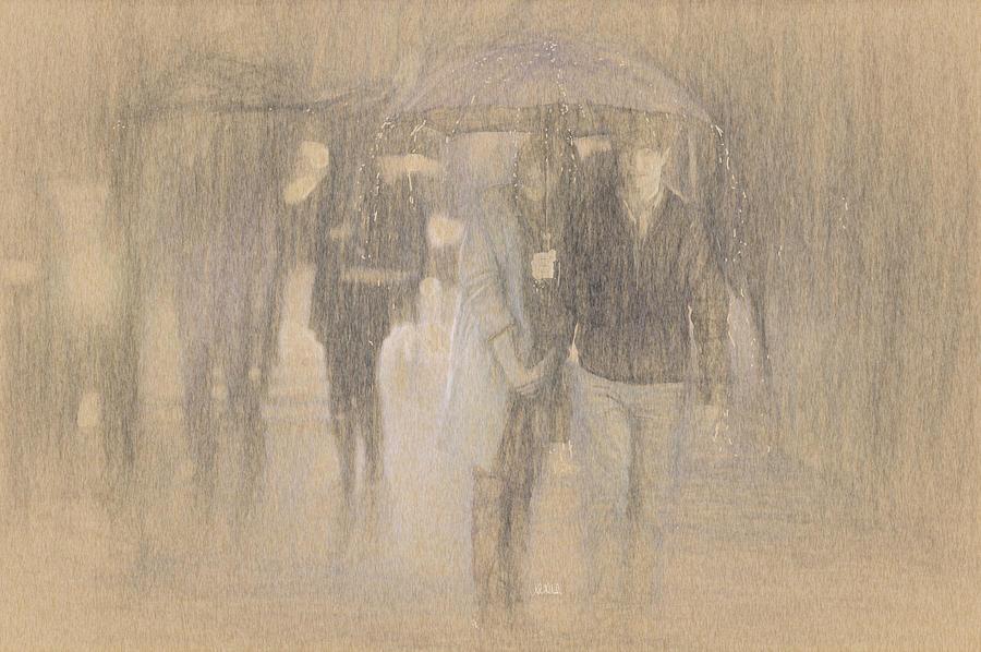 Rain Drawing - Its Raining In Georgia by Angela A Stanton
