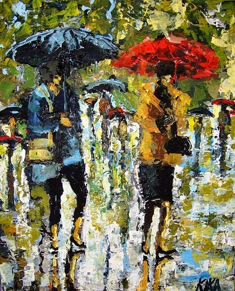 Its Rainning Painting by Kika Selezneff Aleman