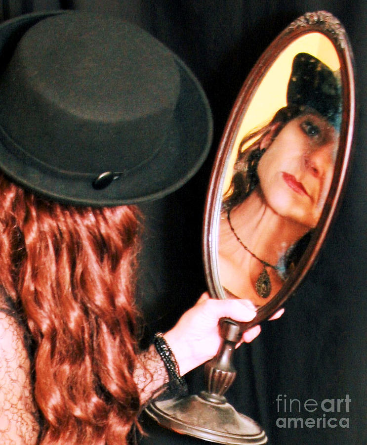 Mirror Photograph - Its Right In Front Of You...   by Lucky LaRue